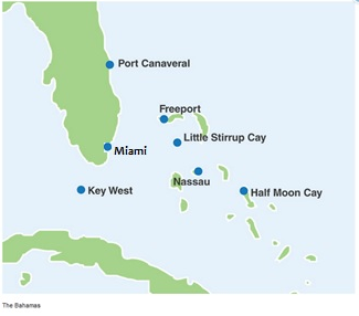 City map of Bahamas & Florida